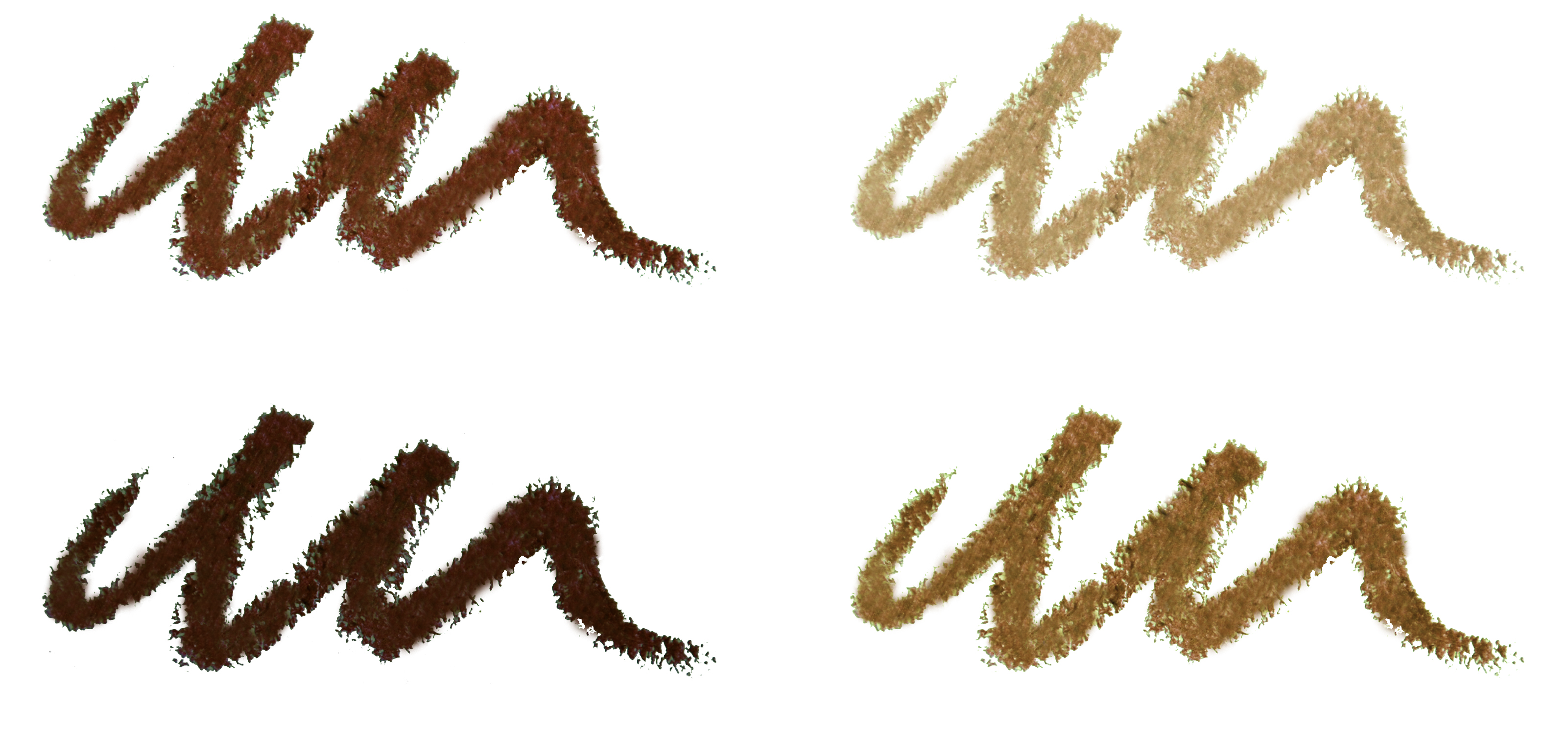 Precision Brow Pencil swatches
